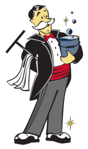 Window Butler Icon Man With Cleaning Bucket