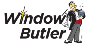 Window Butler Logo Stacked Text Logo Right
